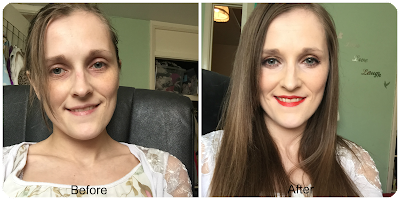before and after look using high street makeup brands