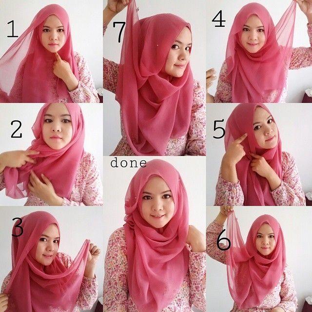 tutorial jilbab segi empat untuk pesta pernikahan