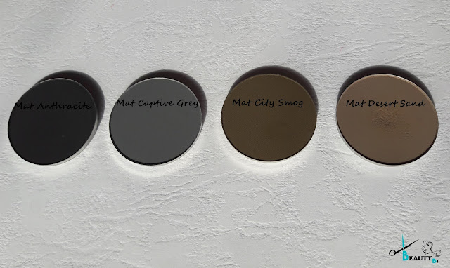 Mat Anthracite,Mat Captive Grey , Mat City Smog, Mat Desert Sand, Swatch Melkior