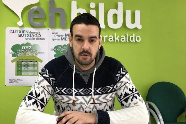 El concejal de Eh Bildu Endika Abad