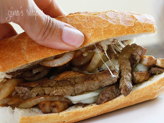 #Steak and #Cheese #Sandwiches with #Onions and #Mushrooms