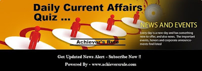 Daily Current Affairs MCQ-18th June 2017