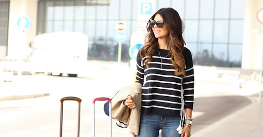 Travel Style: Stripe Sweater and Trench Coat