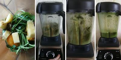 Zubereitung Rucola-Ananas-Orange-Smoothie