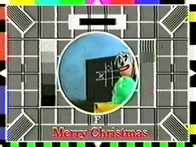 BBC Test Card F at Christmas
