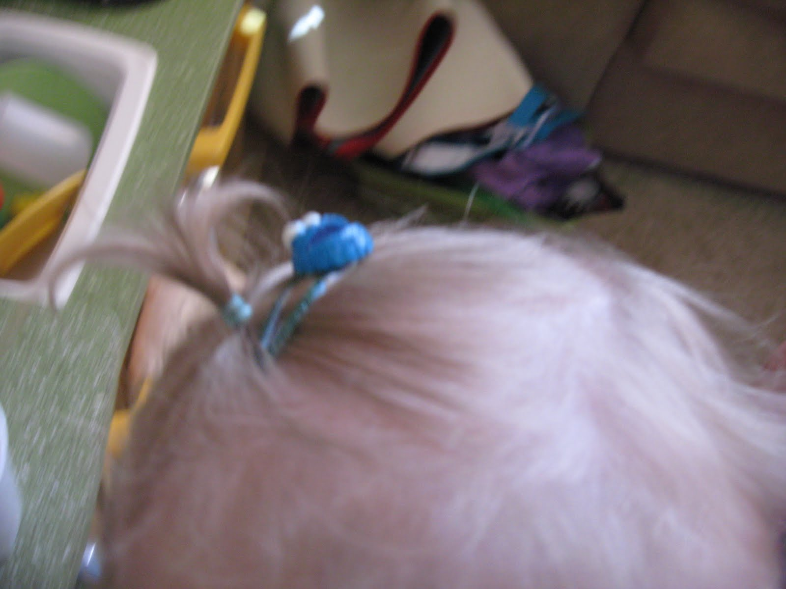 It Was Finally Time Her Hair Had Gotten To A Long Enough Point That We Could Put An Itsy Bitsy Pony In She Also Insisted Upon The Barrette