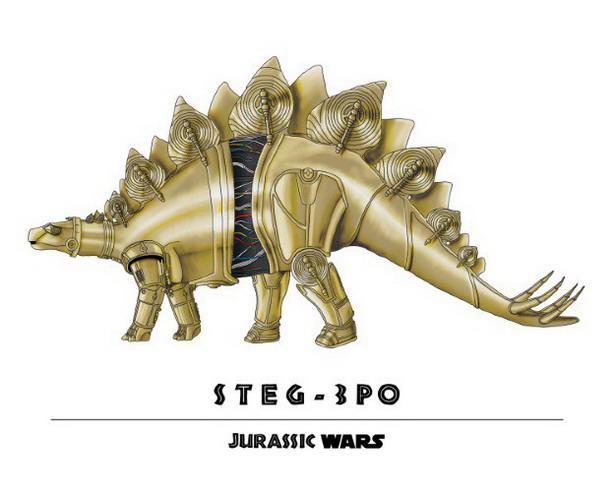 C-3PO + Stegosaurus = Steg-3PO