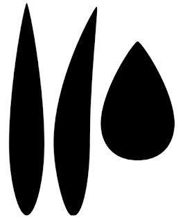 Schablone Tulpenteile zum Ausdrucken