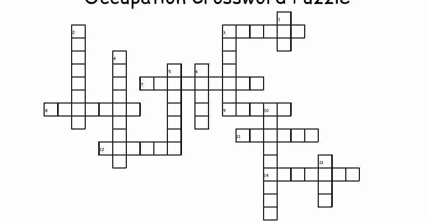 Empowered By THEM: Occupation Crossword Puzzle
