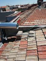 foto tubo ei30 de 300-350 en tejado de madrid
