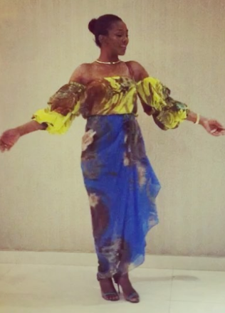 Genevieve Nnaji's beautiful look to the premiere of 'A trip to Jamaica'