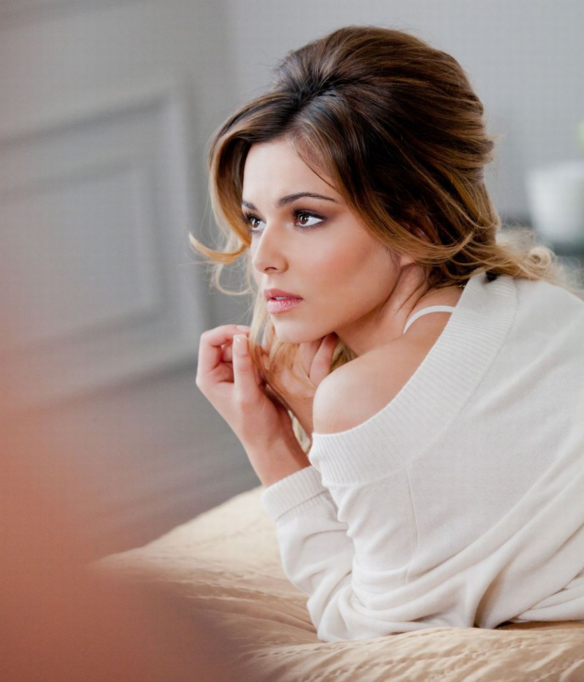 Cheryl Cole L'Oreal Paris Elnett Satin Hairspray Photoshoot