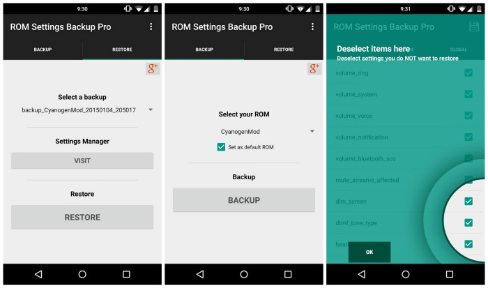 Rom setting backup pro full apk Free download