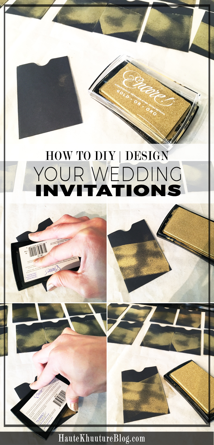 Michaels crafts wedding invitations - And Began To Customize The Look With Gold Craft Paint From Michael S