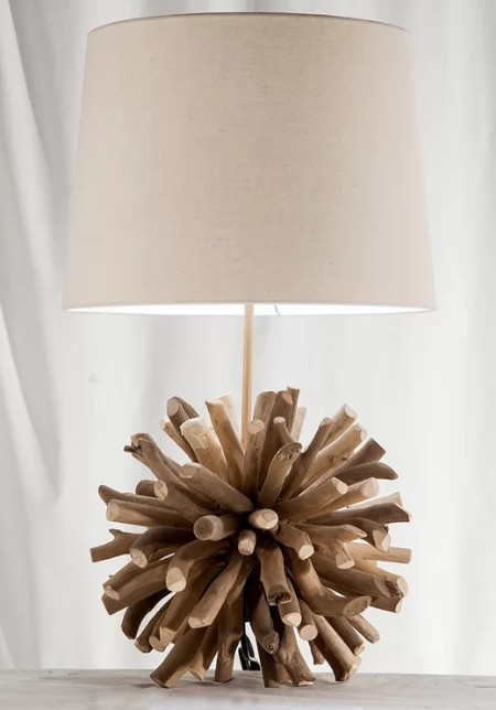 Driftwood Orb Table Lamp