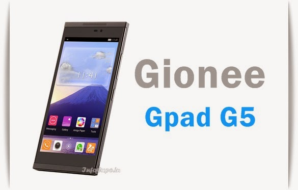 Gionee Gpad G5: 5.5-inch HD Display,1.5GHz Hexa-core Android KitKat phone Specs,Price