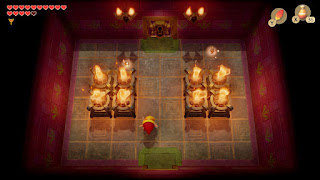 chamber before the boss room - all torches are lit and the Sparks have turned into fairies