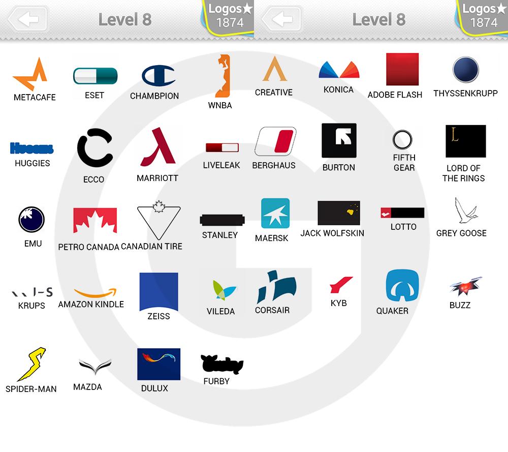 logo quiz expert level 8 type logos