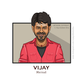 Mersal Vijay Caricature Cartoon