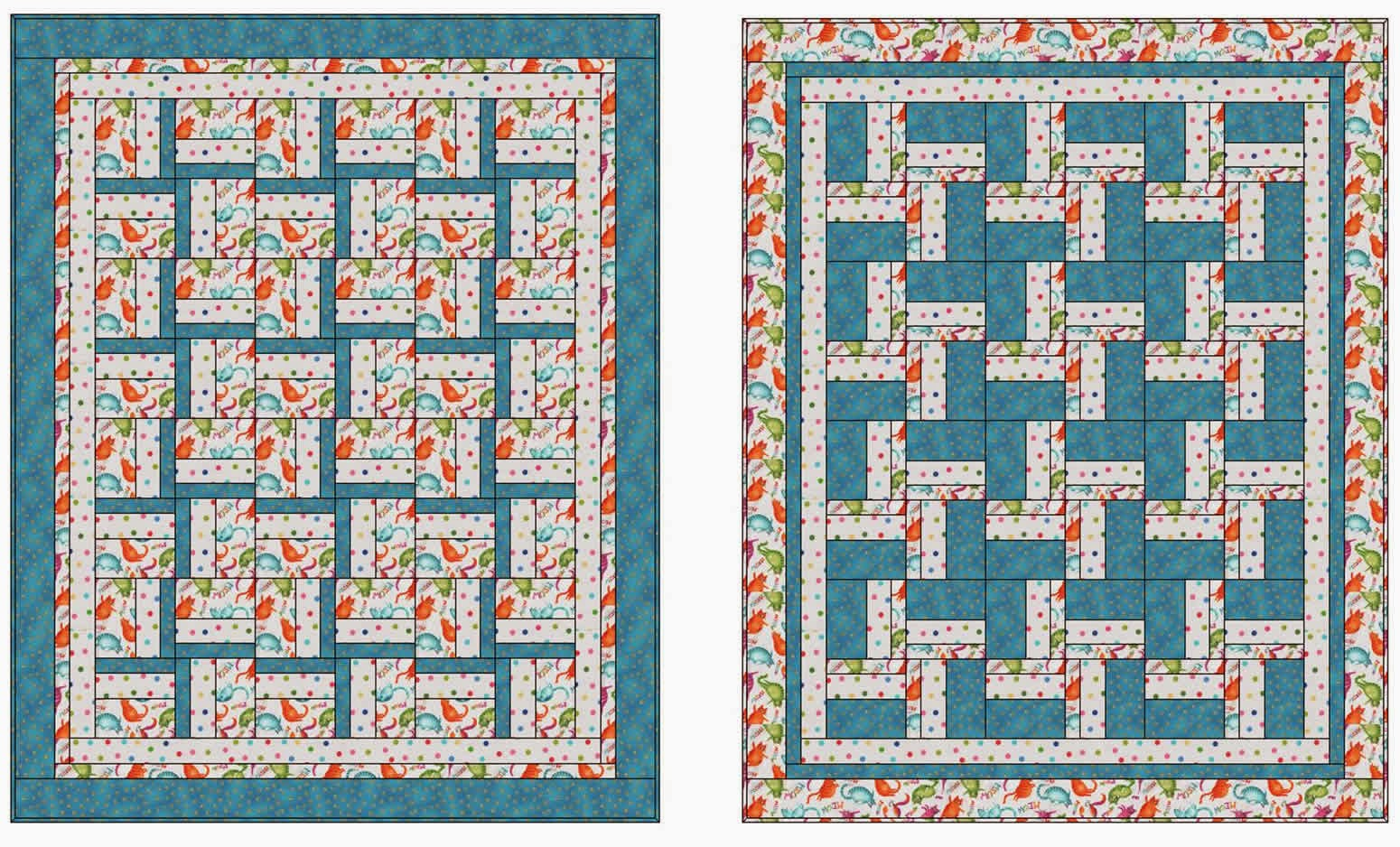 3 Fabric Quilt Patterns Simple Inspiration Ideas