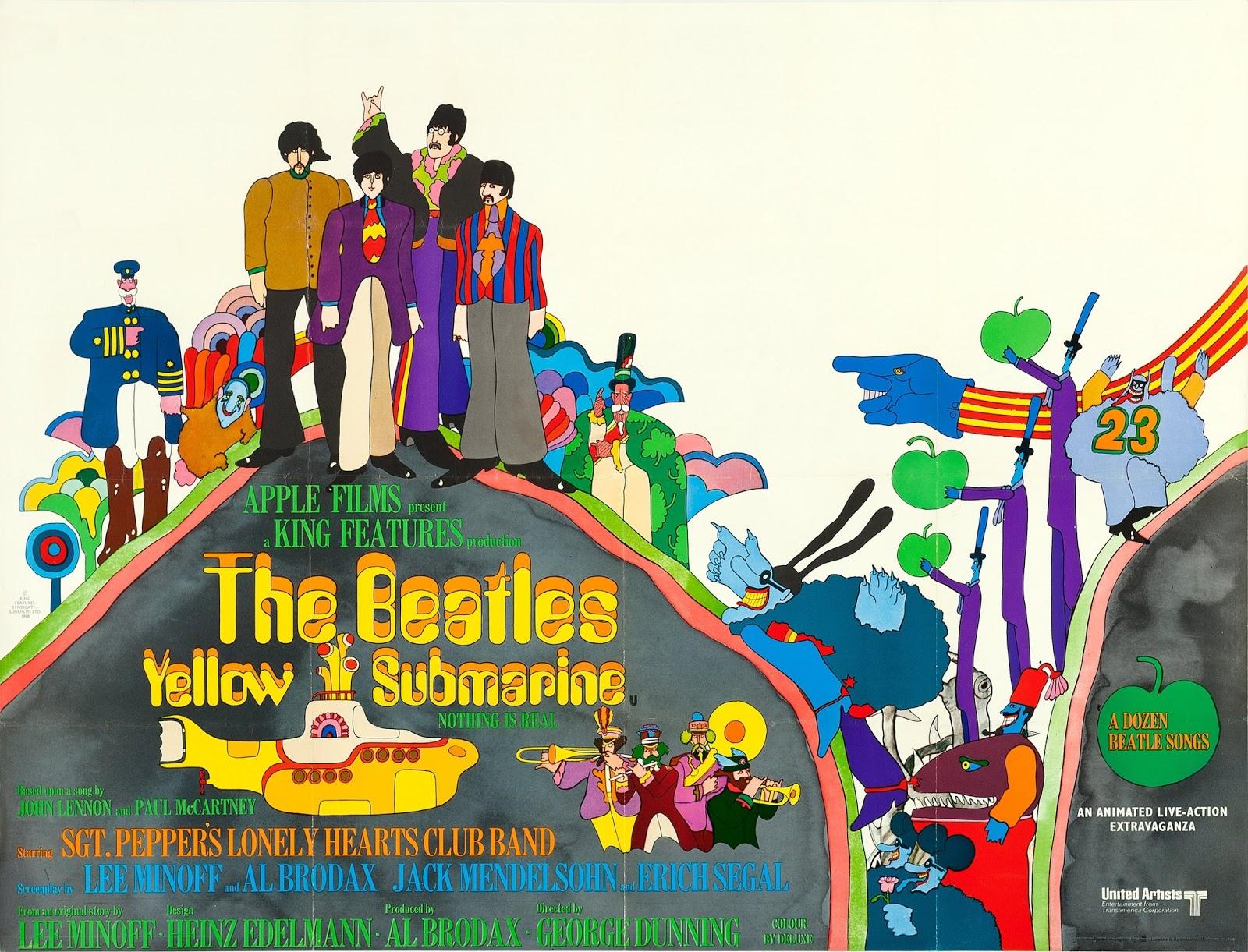 Artifacts Rare Beatles Yellow Submarine Movie Posters