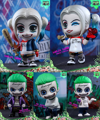 Suicide Squad The Joker & Harley Quinn Cosbaby Mini Vinyl Figures by Hot Toys