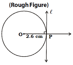 OMTEX CLASSES: 3. Draw a circle of radius 2.6 cm. Draw