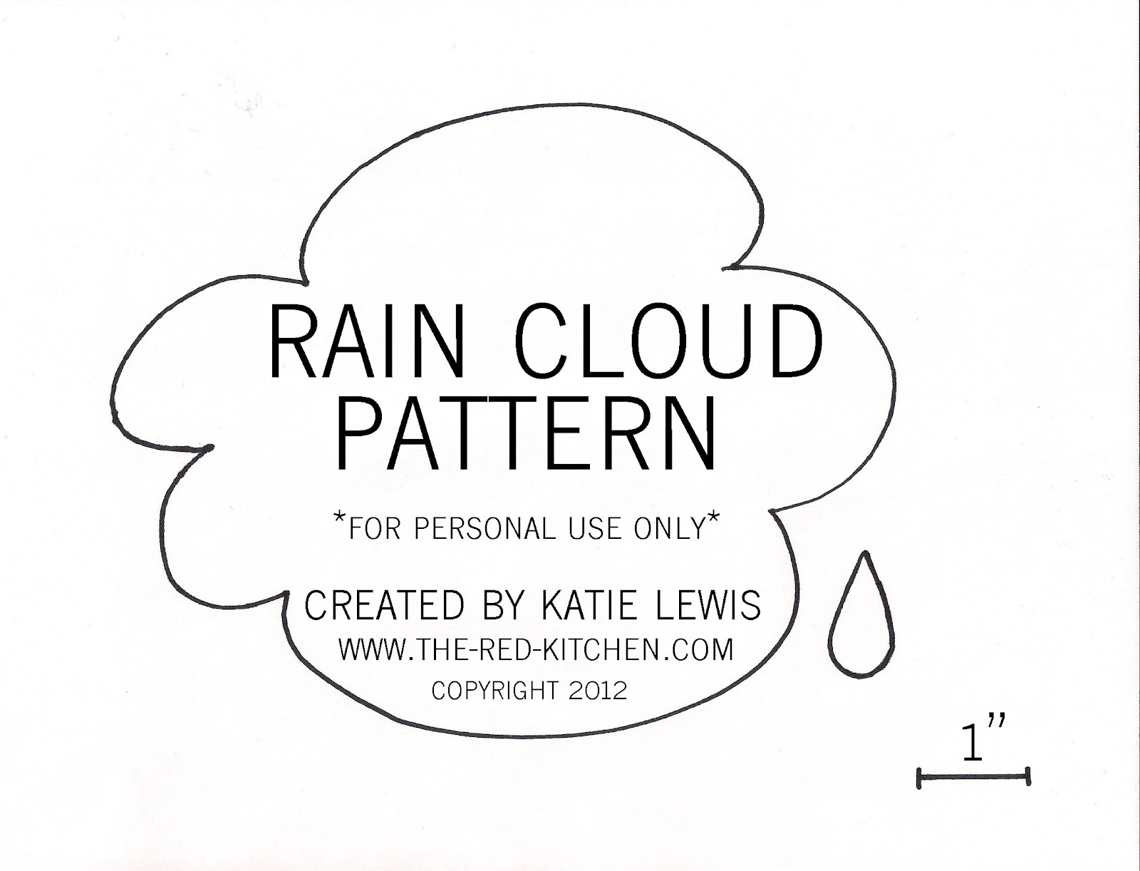 the red kitchen: Rain Cloud T-Shirt Applique (Free Pattern