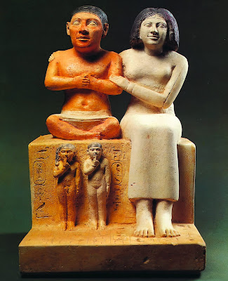 Seneb and his wife Senetites (ca. 2520 BC) (Egyptian Museum, Cairo)