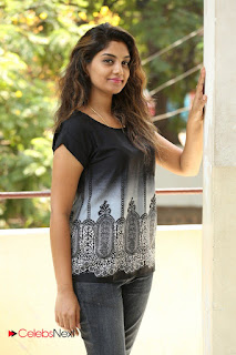 Actress Karuna Pictures in Jeans at Tholi Kiranam Press Meet  0042.JPG