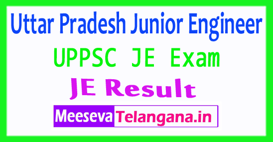 Uttar Pradesh Junior Engineer UPPSC JE Result 2017