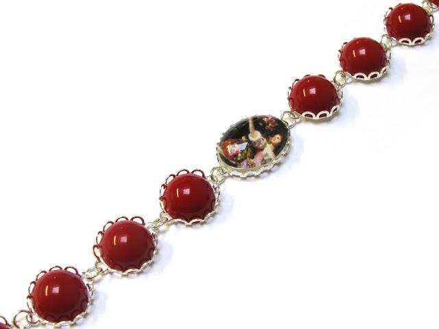 tutorial Rood armbandje met zilveren zettingen
