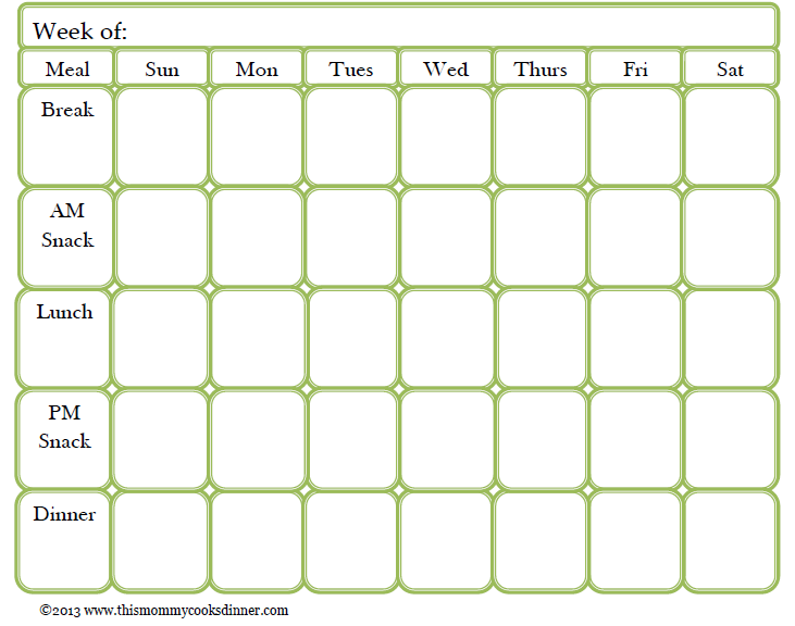 available for download petit elefant printable meal planning – Free Weekly Menu Templates