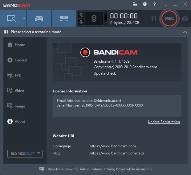 Bandicam v4.4.1.1539 Full version free download