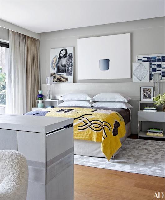 obras de arte contemporáneo en el dormitorio chicanddeco