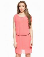 Rochie tunica roz ( curea aurie cadou)