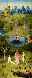 the garden of earthly delights left panel-dunyevi zevkler bahcesi sol panel