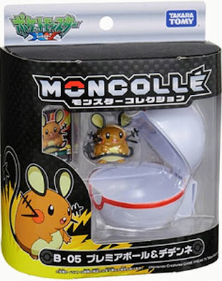 Dedenne figure with Premier Ball Takara Tomy Monster Collection MONCOLLE Ball Set series