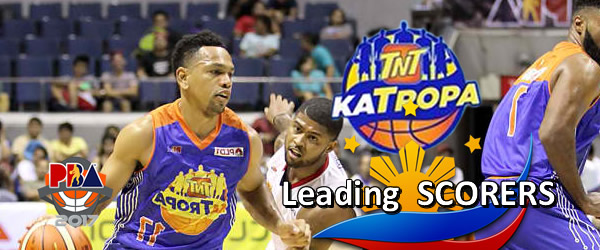 List of Leading Scorers: TNT Katropa 2016-2017 PBA Philippine Cup
