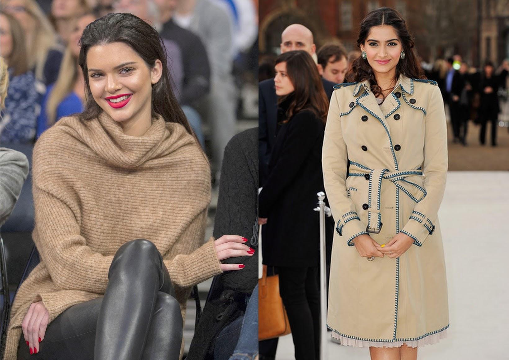Celebrity Inspiration for winter dressing, Kendall Jenner, Sonam Kapoor