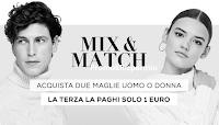 Logo Mix & Match: da OVS 2 maglie +1€ = 3 maglie