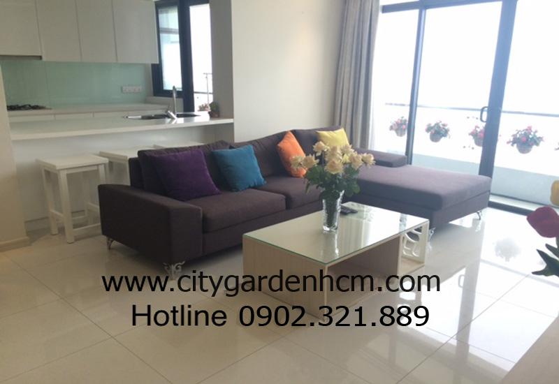 căn hộ cho thuê tầng 21 phòng khách city garden