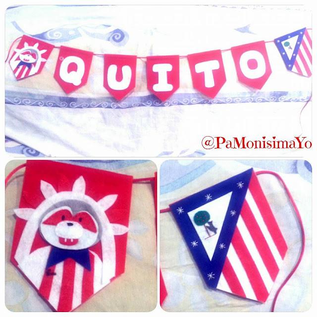 Nombre personalizado Banderines Atlético de Madrid @pamonisimayo