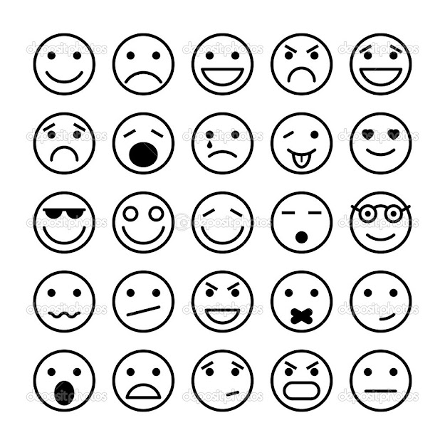 Emoji Happy Face Coloring Page