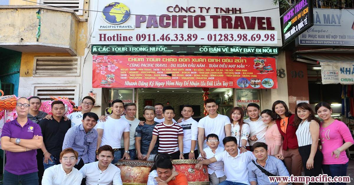 Công ty Pacific Travel bao lâu cập nhật giá tour du lịch lên website ?