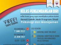 Free!! Kelas Pengembangan Diri: Kenali Prodi Psikologi dan Prodi Manajemen