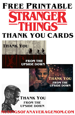 Stranger Things thank you cards