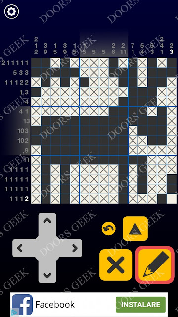 Picross Galaxy Level 109 Solution, Cheats, Walkthrough