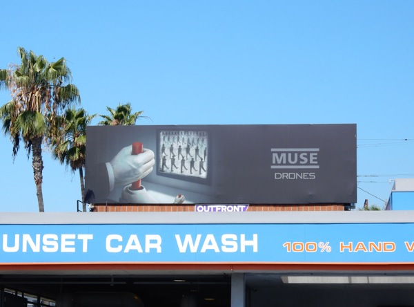 Muse Drones album billboard