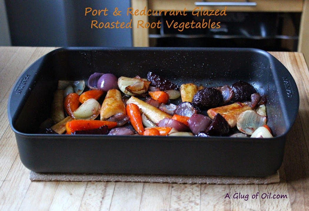 Port and Redcurrant Glazed Roasted Root Vegetables